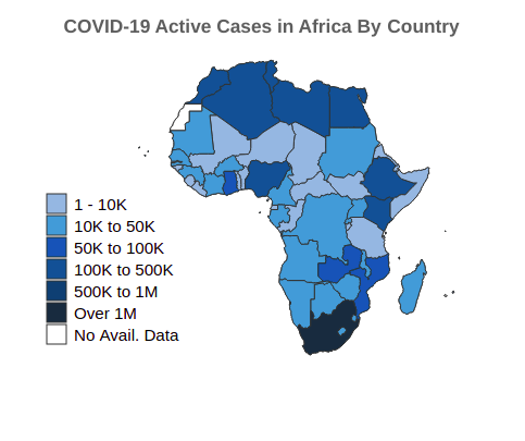 COVID-19 Cases in Africa By Country