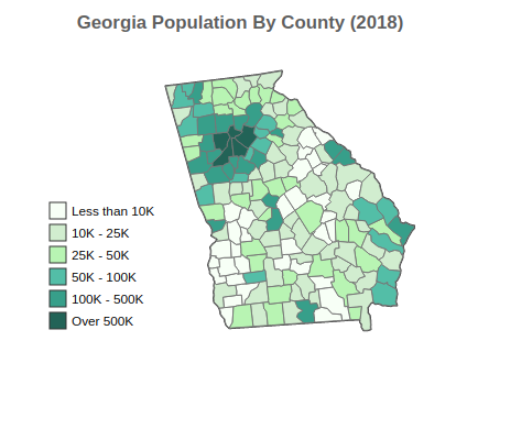 Georgia Population By County (2018)