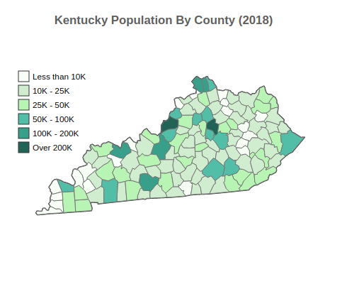 Kentucky Population By County (2018)