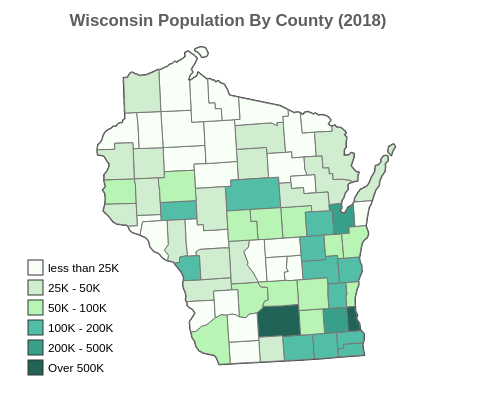 Wisconsin Population By County (2018)
